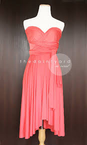 bridesmaid dresses coral coral bridesmaid dress convertible dress infinity dress