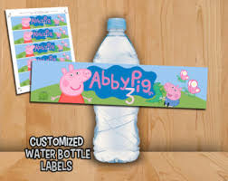peppa pig labels etsy