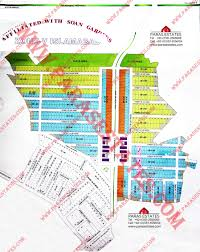 Islamabad Map 56 Residential Plots In Soan Gardens Extension H Block Extn Are