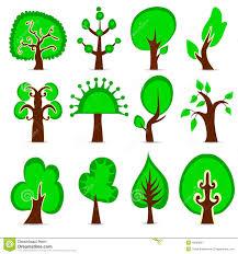 design tree set stock vector image of decoration flora 10060621