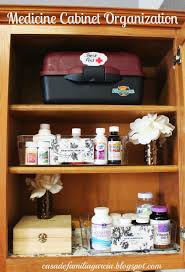 medicine cabinet organization bless mama