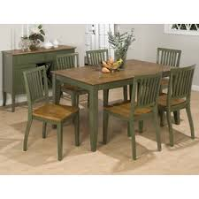 jofran vintage green 8 piece rectangle dining room set flap stores