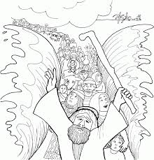 sunday moses bible coloring pages printable pdf for