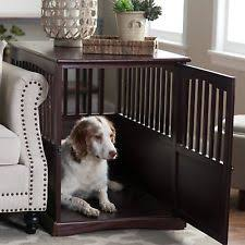dog kennel end table crate cage puppy wooden nightstand pet bed