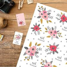 floral gift wrapping paper eid mubarak floral gift wrap and tag by ink