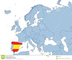 spain on a map spain on europe map stock photography image 4291212