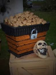 Pirate Decorations Homemade Diy Treasure Chest Out Of A Stryofoam Cooler Used Thumb Tacks