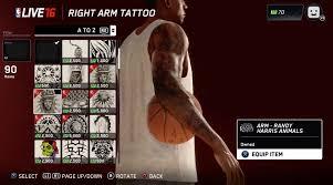 full body tattoo nba 2k16 nba live 16 video tattoo shop operation sports