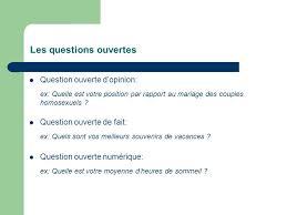 questionnaire mariage la technique de l enquete par questionnaire ppt