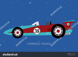 cartoon sports car side view vintage racing car side view car stock vector 598119230 shutterstock