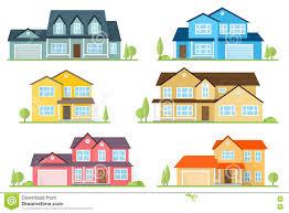 house design application download vector flat icon suburban american house stock vector image