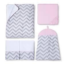 pink zig zag 11pc crib bedding set target