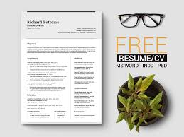 free simple resume template with cover letter for creative