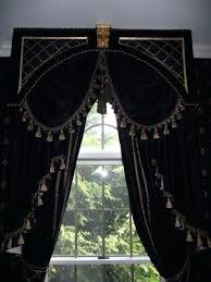 Black Gold Curtains Black And Gold Curtains Vintage Black Polyester Fabric Blackout