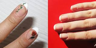 french manicure with black white roses nail art tutorial youtube