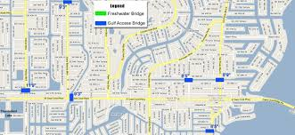 Map Of Northwest Florida by Boater U0027s Information The Locks And Bridges Of Cape Coral