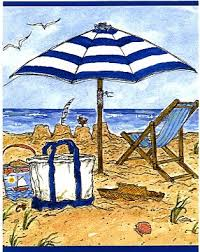 Susan Wallace Barnes Christmas Cards Susan Wallace Barnes Note Cube With Pen Beach Umbrella Small