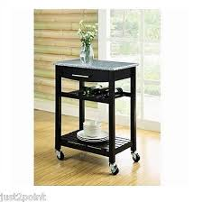 island trolley kitchen rolling kitchen cart black bar wine storage island wood stand