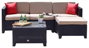 Mountain Outdoor Furniture - rattan wicker sofa set sectional outdoor garden patio furniture 5