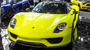 porsche spyder yellow 3 0 m acid green porsche 918 spyder weissach package 1 of 2