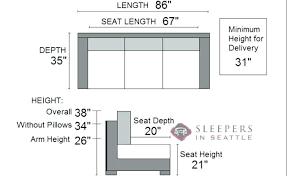 sofa seat depth measurement standard couch dimension lostconvos com