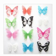 magnetic 3d butterfly wall art decal removable wall stickers home