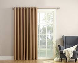 Amazon Thermal Drapes Amazon Com Sun Zero Barrow Energy Efficient Patio Door Curtain