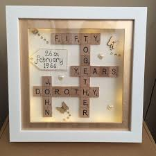 gifts for wedding anniversary boxed led light 3d frame scrabble special wedding silver golden
