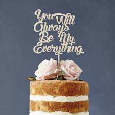 wedding cake song personalised song lyrics wooden wedding cake topper by
