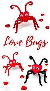 valentine heart love bugs craft for kids valentine crafts