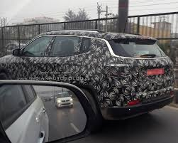 jeep compass 2017 exterior iab reader spots the jeep compass testing near gurugram