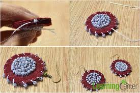 felt earrings how to make dangle earrings with seed in ethnic style