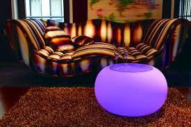 Wohnzimmertisch Led Beleuchtung Moree Bubble Led Beleuchteter Tisch Mit Sicherheitsglasplatte ø