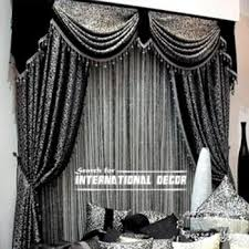 Black And Gray Curtains Unique Black And Selver Curtain Designs For Window Decorations