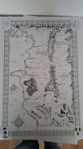 The Witcher 3 World Map by Here U0027s What The Witcher 3 Map Would Look Like With A Tolkien Makeover