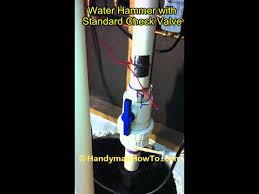 noisy basement bathroom sewage check valve water hammer youtube