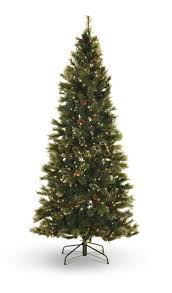oregon pine 7 5 pre lit artificial tree with led warm