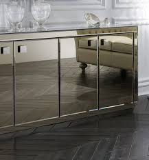 smoked mirrored buffet and mirror furniture pinterest