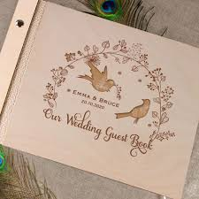 unique wedding guest books unique personalised wooden wedding guest book alternative vintage