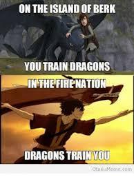 Berk Meme - on the island of berk you train dragons in the firenation dragons