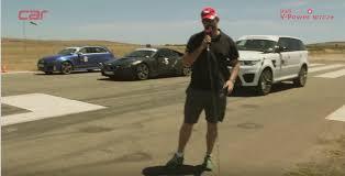 bmw vs audi race drag race range rover sport svr vs bmw i8 vs audi rs3