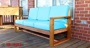How To Sofa How To Build A Diy Modern Outdoor Sofa Fixthisbuildthat