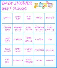 baby shower gift bingo baby shower gift bingo includes 20 pre filled baby shower
