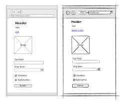 sketchy wireframes