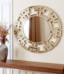 decor bronwyn round mirror with wall sconces also white paint