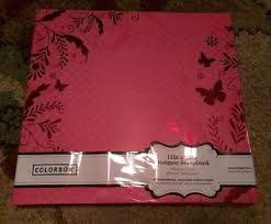 expandable scrapbook colorbok 12x12 pink polka dot album w foil butterfly expandable