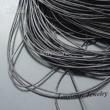 leather necklace cords wholesale images 2018 genuine leather necklace cords 1mm black color for diy jpg