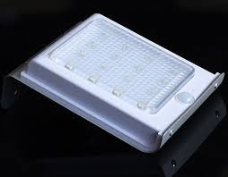 self contained motion detector light solar power motion sensor garden security outdoor l automo