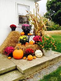 fall outside decorations weekend inspiration welcoming fall front