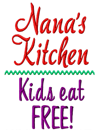 free kitchen embroidery designs nana u0027s kitchen kids eat free machine embroidery design